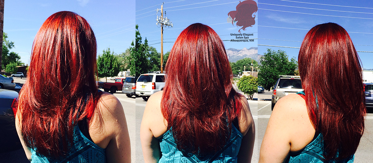 Images tagged hair color bombshell red albuquerque abq for Bomb hair salon