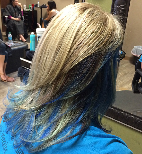 Medium Blue And Blonde Hair