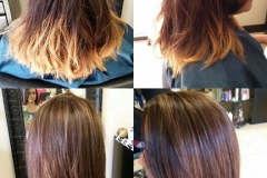 before-after-color-correction-light-brown-hair-highlights-haircut-albuquerque-nm