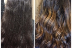 Caramel hair color balayage color melt abq