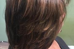 Caramel highlights - shoulder length haircuts lots of layers