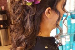 Creative long hair updos
