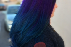 Fashion hair colors, Purple and blue color melt