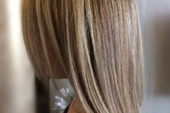 Full hair highlights -two colors- and a texturized haircut