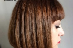 Hair color, bob hairstyle, with bangs haircut
