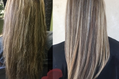 Hair transformation- color and highlights