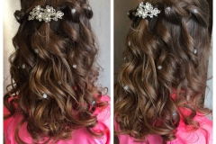 Long curled hairstyle