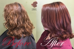 More red-hair love! Copper highlights