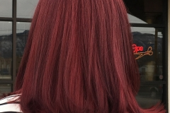 Short haircuts for women, short layers, deep red hair colo