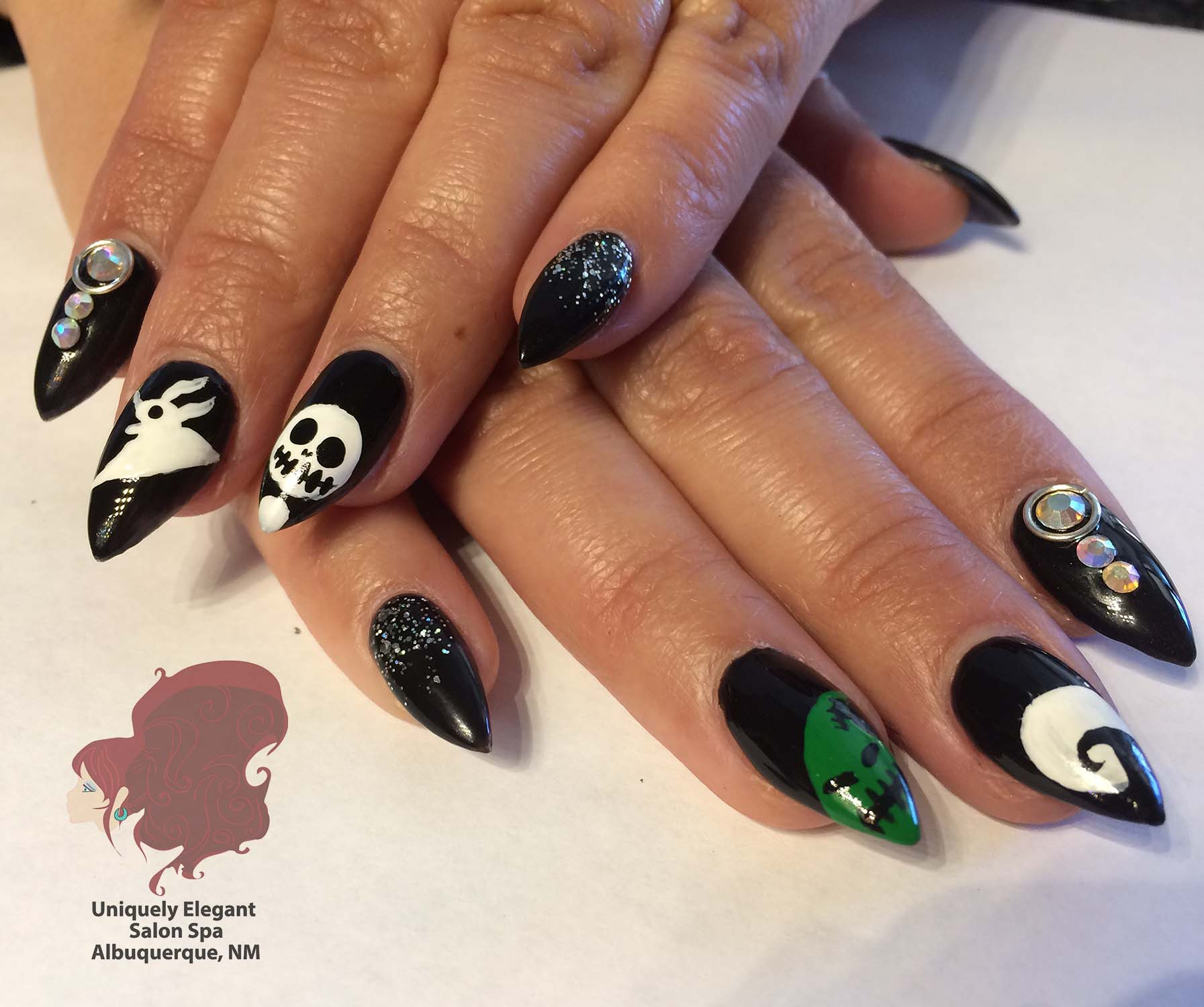 Images tagged sculptured acrylics nails manicure uniquely sculptured acrylic nails halloween nail art abq prinsesfo Image collections