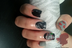 manicure-albuquerque-acrylics-nails-jewels-marble-hearts-gel-3D-roses-design-2
