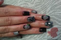 manicure-albuquerque-acrylics-nails-jewels-marble-hearts-gel-3D-roses-design