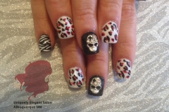 manicure-albuquerque-black-white-acrylic-nails-zebra-cheetah-skull-designs