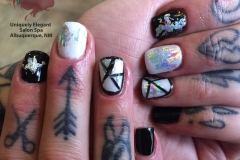 Manicure with free hand nail art images