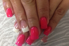 manicures hard gel pink gel polish french white gel polish albuquerque nm