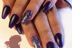 sculptured-acrylic-nails-matte-dark-purple-sparkle-accent-nail-abq
