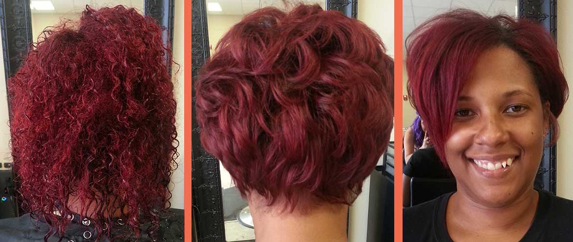 Lady in Red - Hair - albuquerque-Brazilian-Blowout
