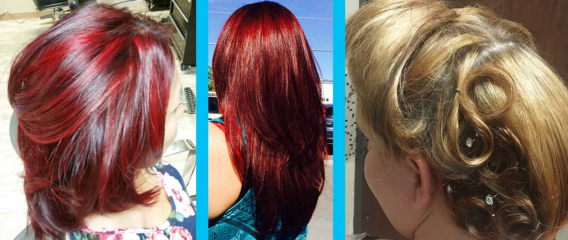 Red Hair and Updo at Uniquely Elegant Salon Spa in Albuquerque NM ABQ