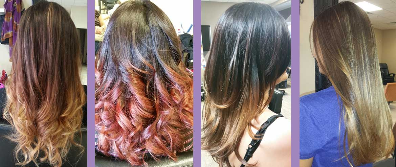 Ombre hair color at Uniquely Elegant Salon Spa in Albuquerque NM, ABQ