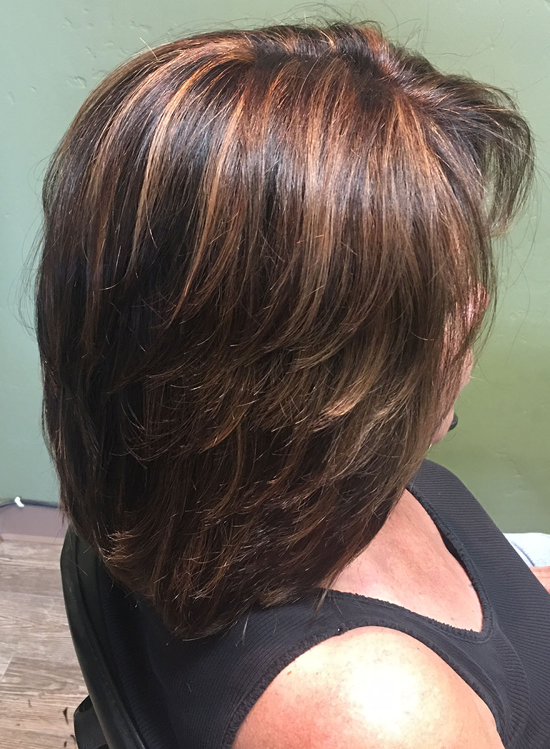 medium hair style ideas many images and pics of all types of haircuts and 3400 | caramel highlights shoulder length hair layers