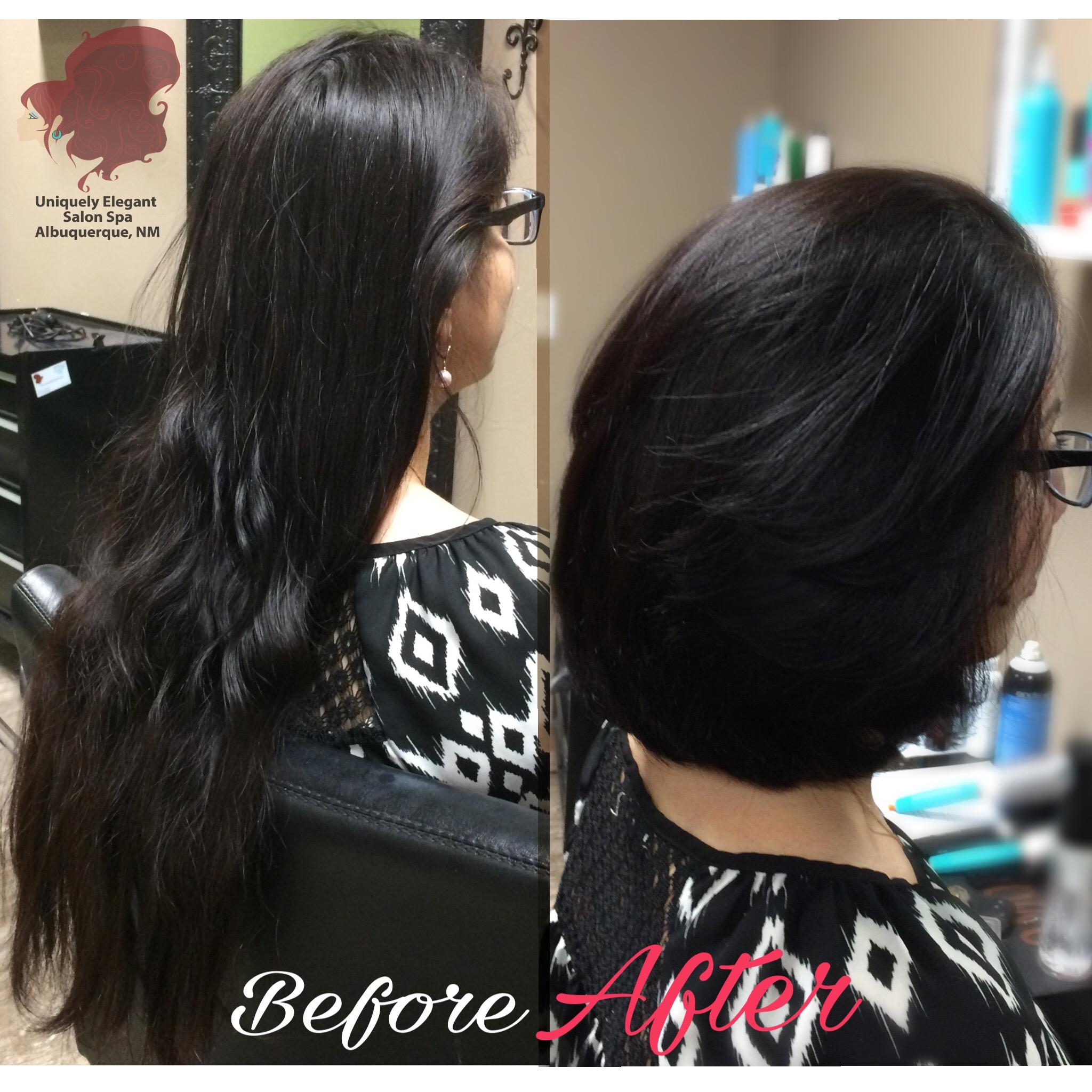 Salon Haircut Long To Short Wavy Haircut